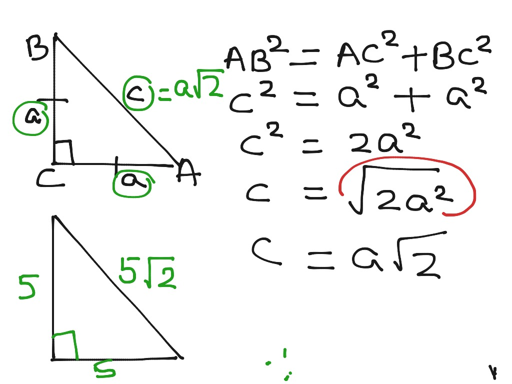 Special Right Triangle 1