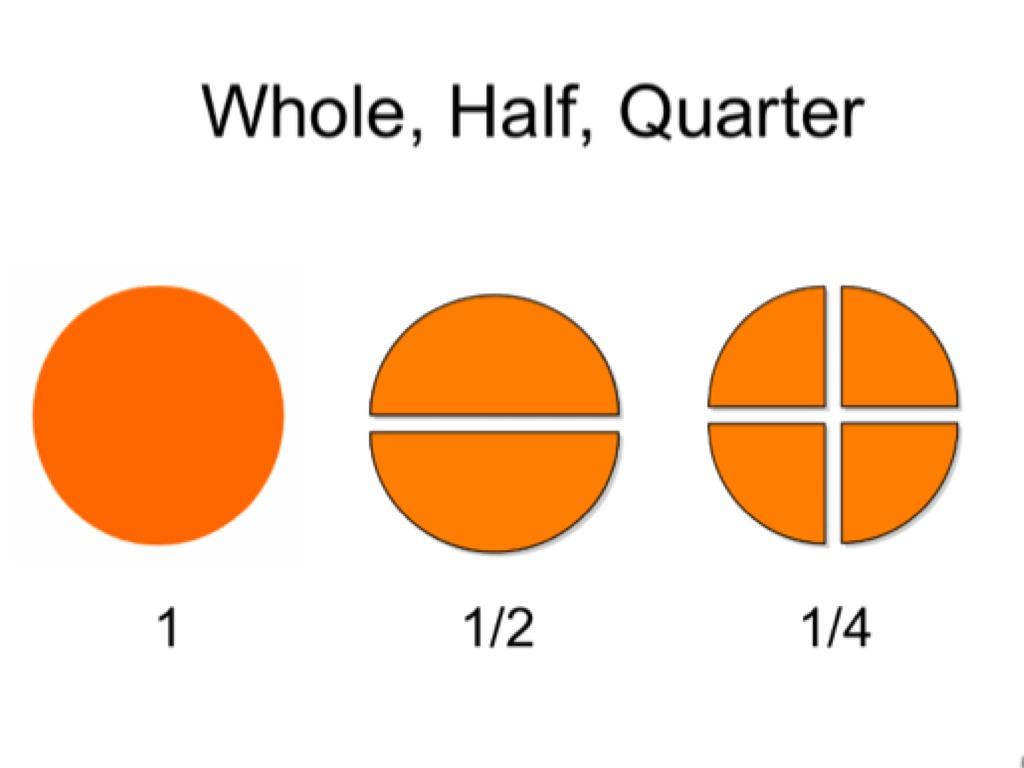 Worksheet Fraction Half Quarter