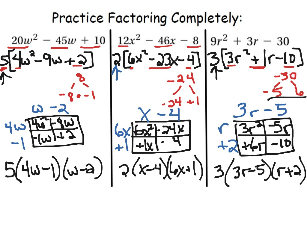 How To S Wiki 88 How To Factor A Trinomial