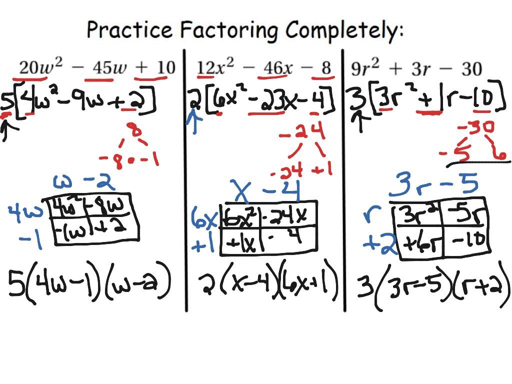 8 6 Factoring Trinomials Leading Coefficient