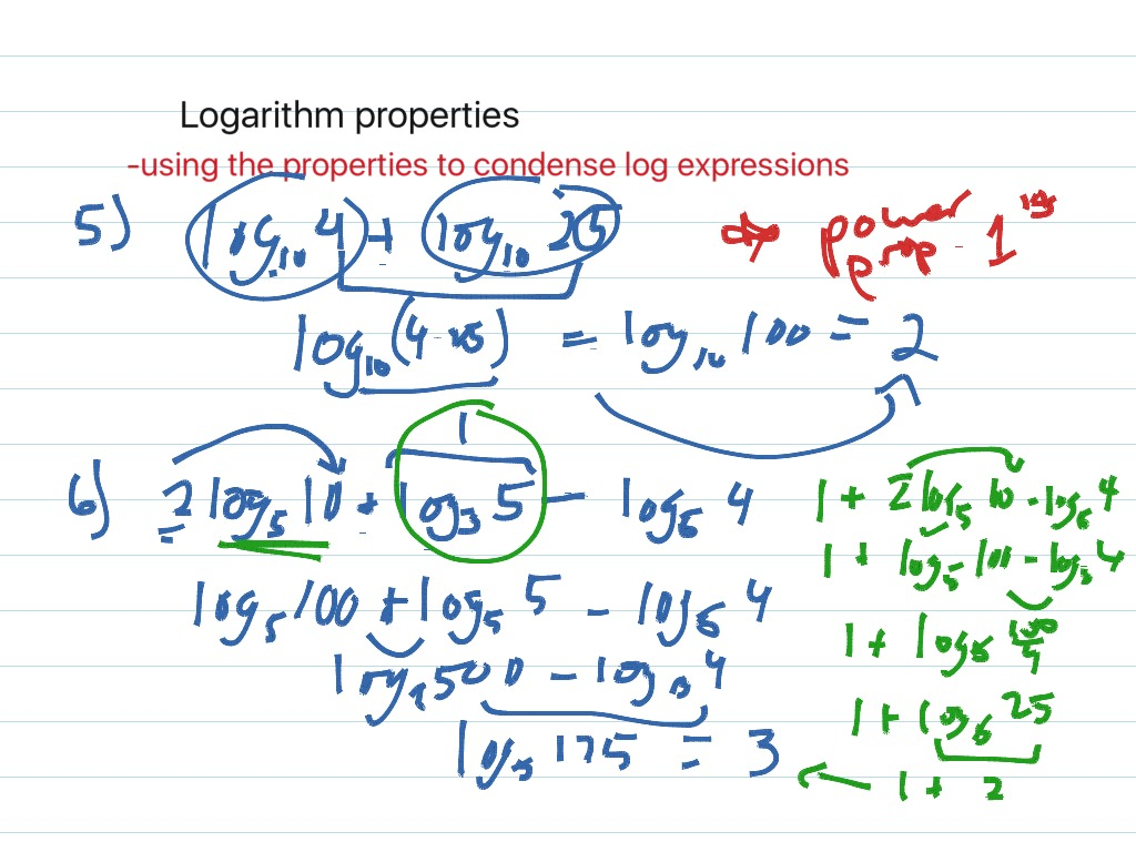 Log Properties Product Quotient And Power