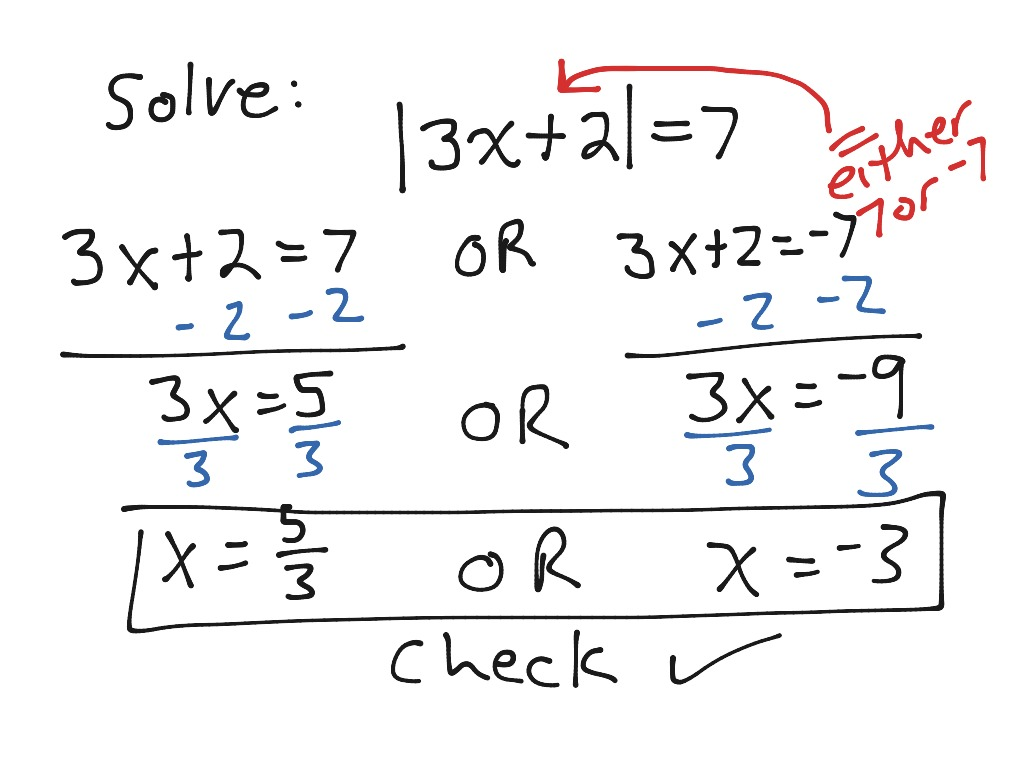 Sec 1 5 Video 2 Solve Absolute Value Equation