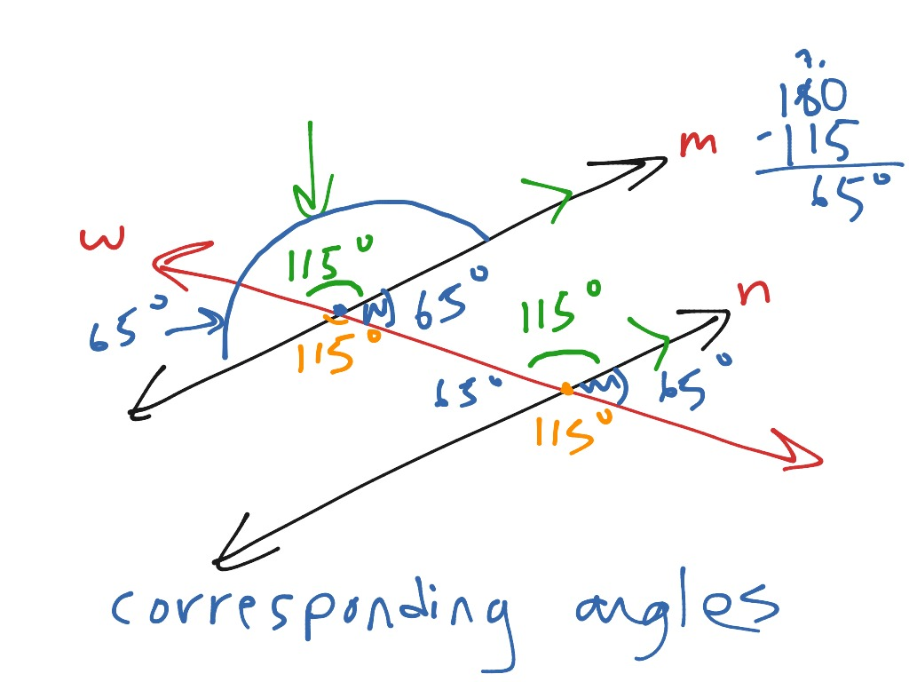 Objective 2 Parallel Lines Cut By A Transversal