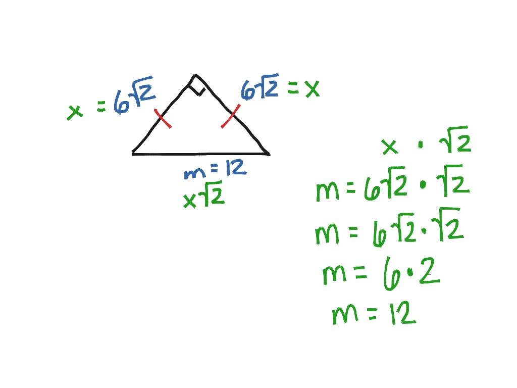 Special Right Triangles Shortcut