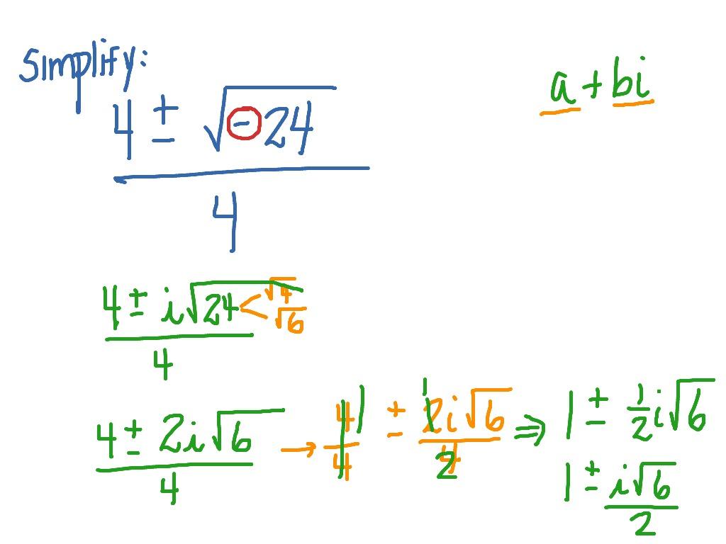 Simplify To The Form A Bi