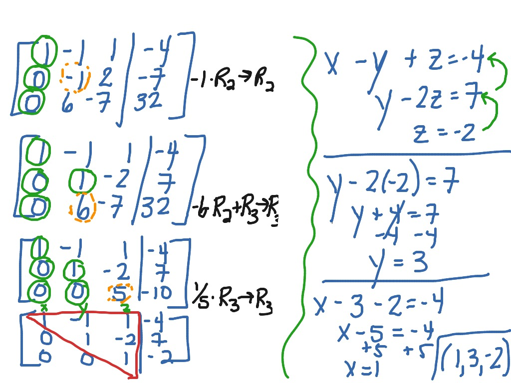 Solving A System Of Equations Using Gaussian Elimination