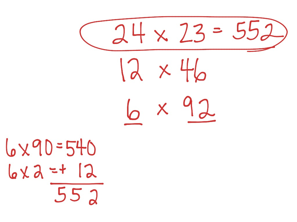 Doubling And Halving Multiplication Strategy
