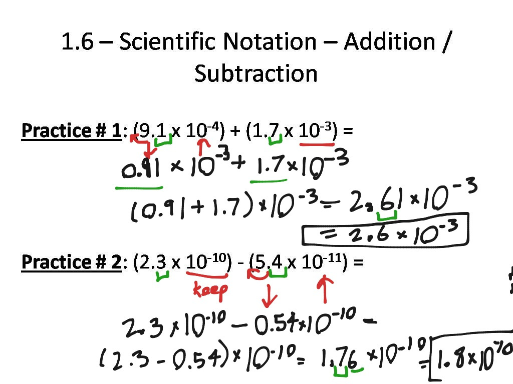 31 Scientific Notation Addition And Subtraction