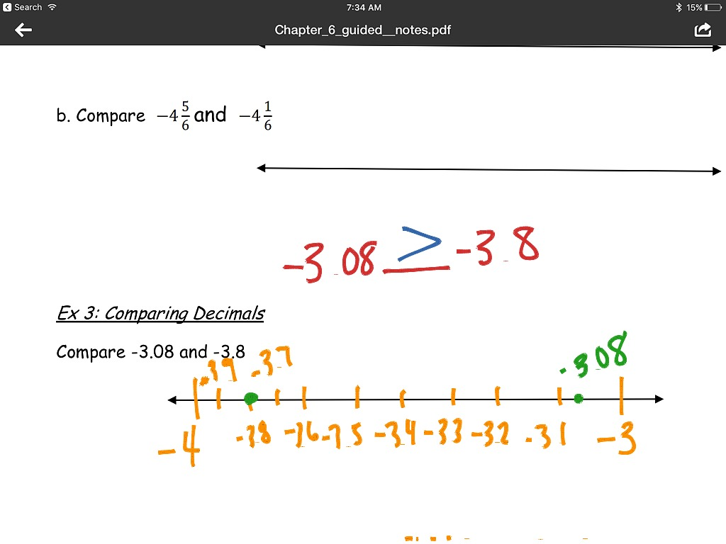 6 3 Fractions And Decimals On The Number Line