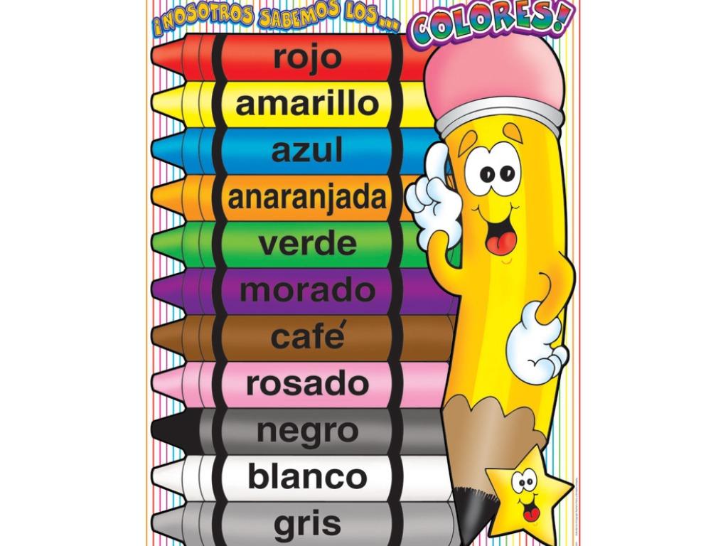 Spanish Rainbow Colors