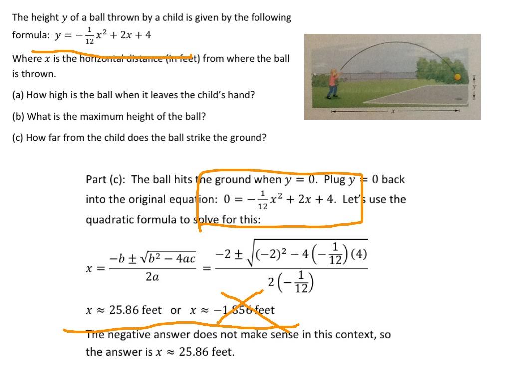 Simple Quadratic Equation Examples
