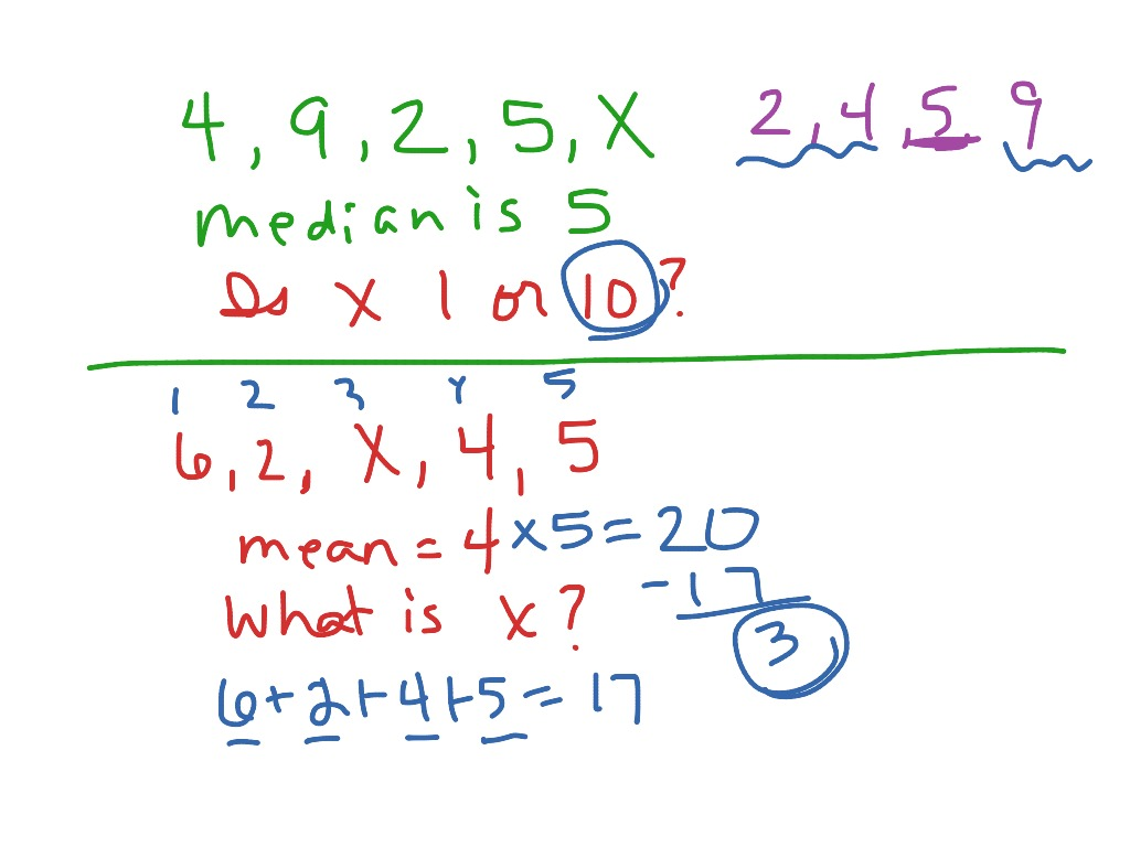 Finding The Missing Number From Mean Median Mode Or
