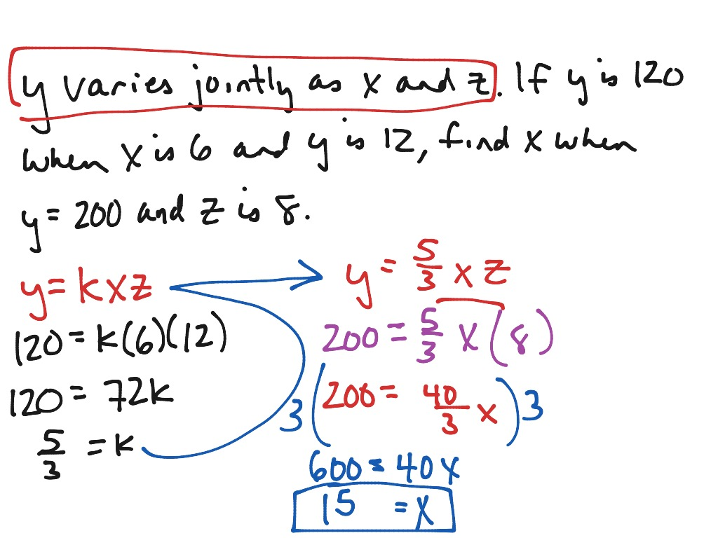 Worksheet Direct Inverse And Joint Variation