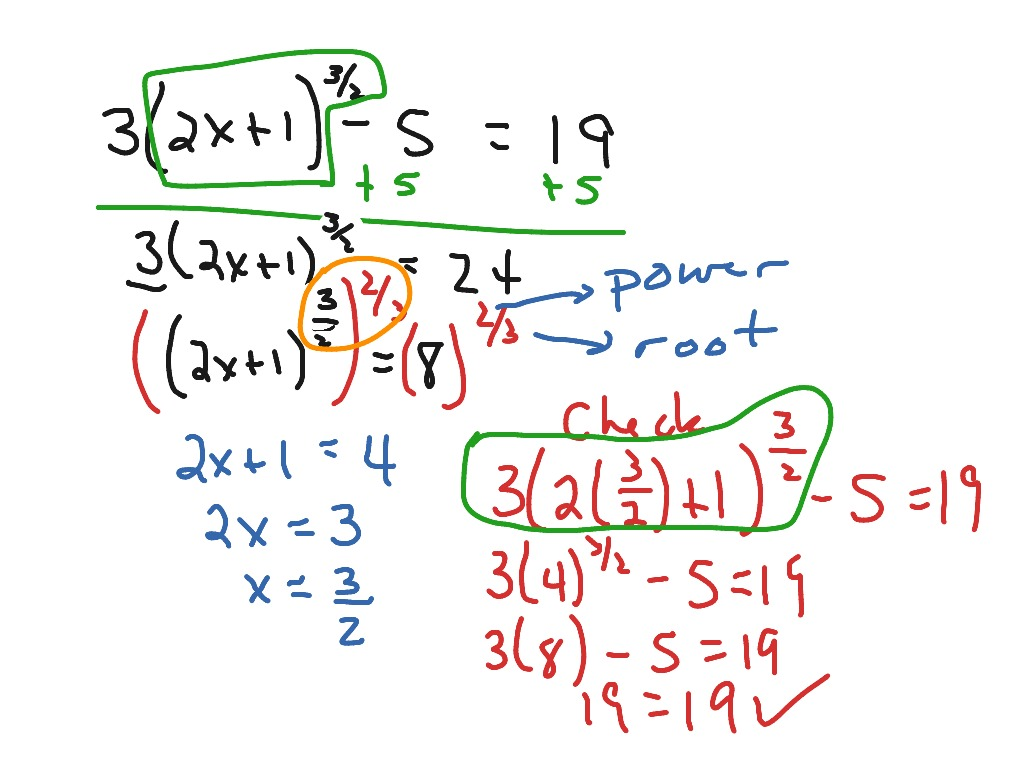 Solving Quadratic Equations With Rational Exponents