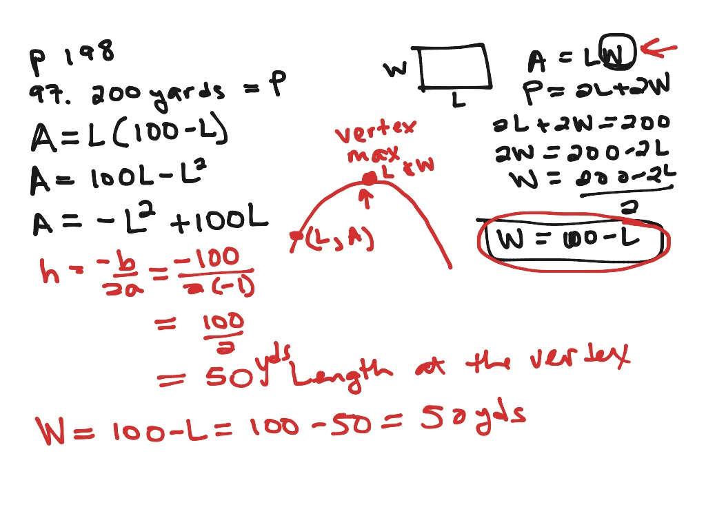 Section 3 1 Applications Of Quadratic Functions 21 Min