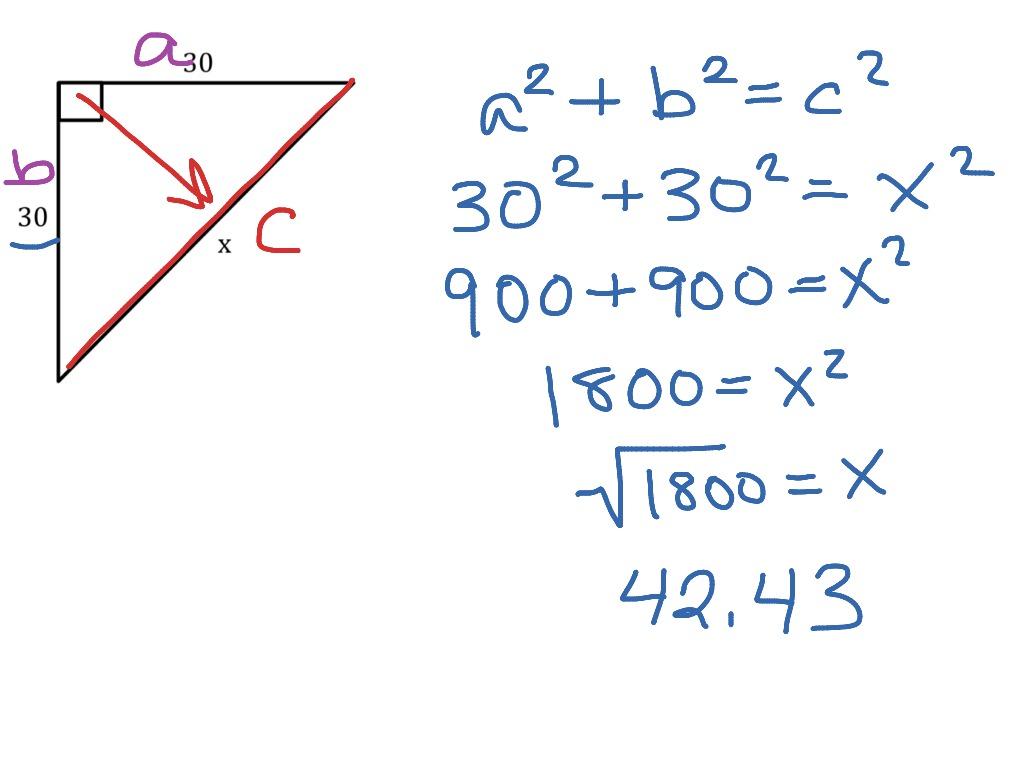 Pythagorean Theorem Example 1