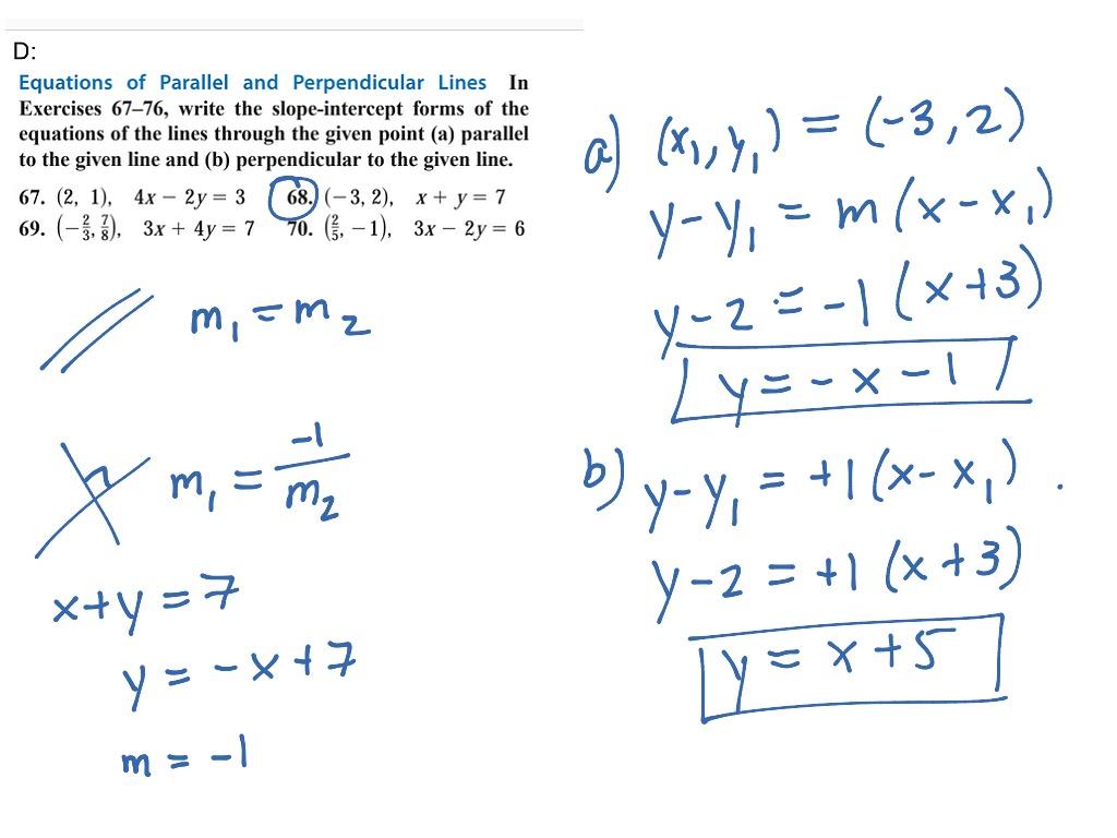 Prec 1 1 D Parallel And Perpendicular Lines