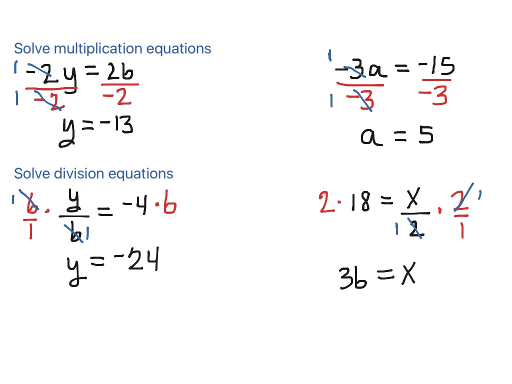Solve Multiplication And Division Equations