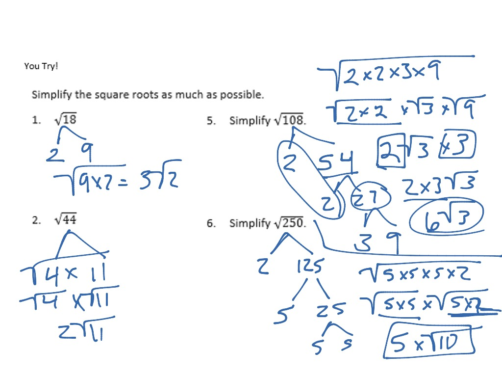 2 22 Simplifying Square Root