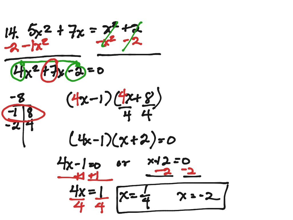 Solving Quadratics By Factoring Selected Problems