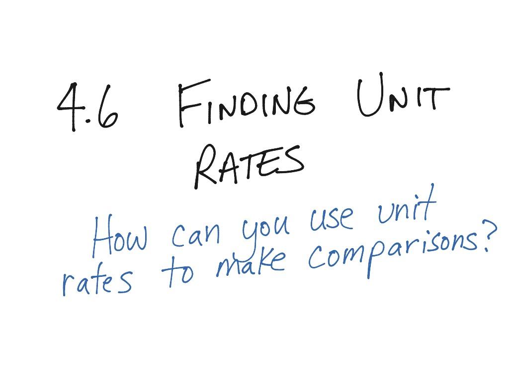 4 6 Finding Unit Rates 6th Grade Ca Go Math
