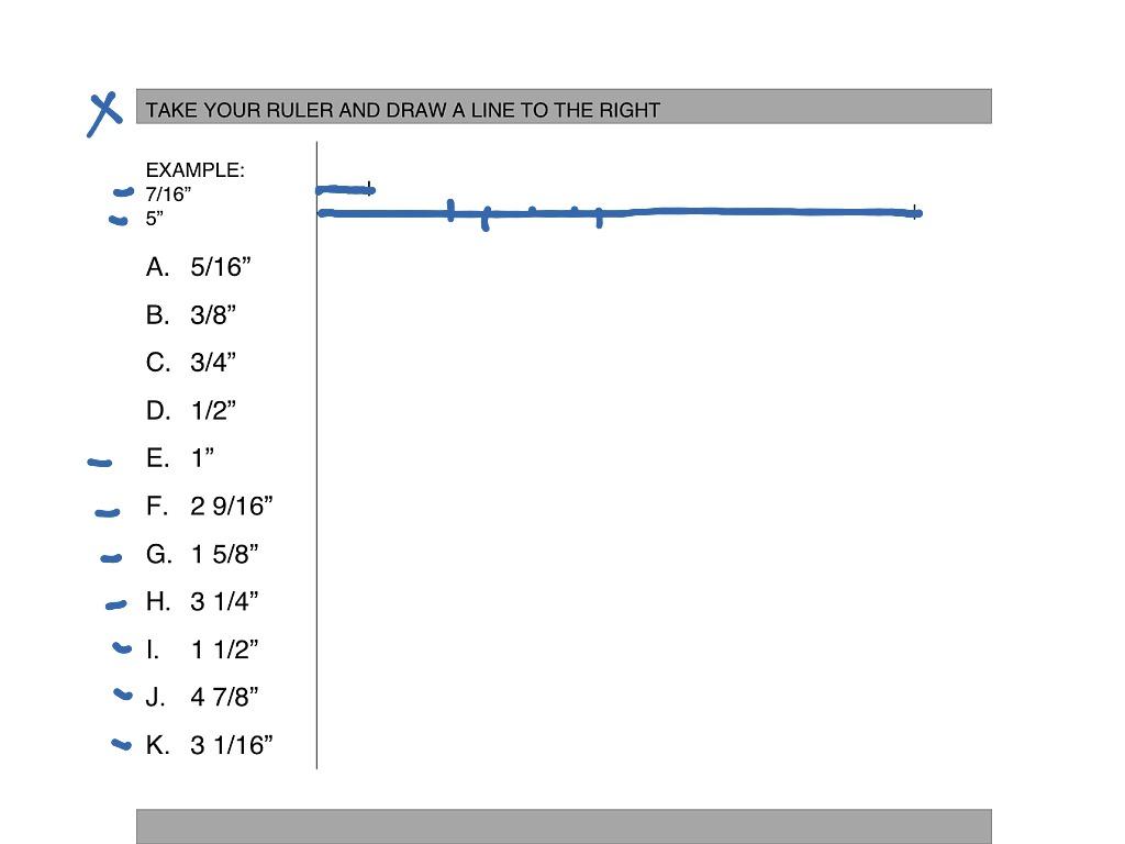 Measurements Worksheet