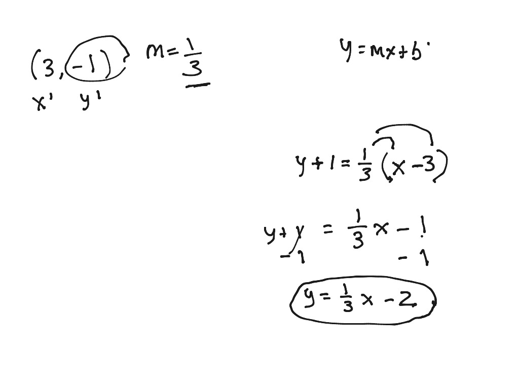 Writing Parallel And Perpendicular Equations With Parallel