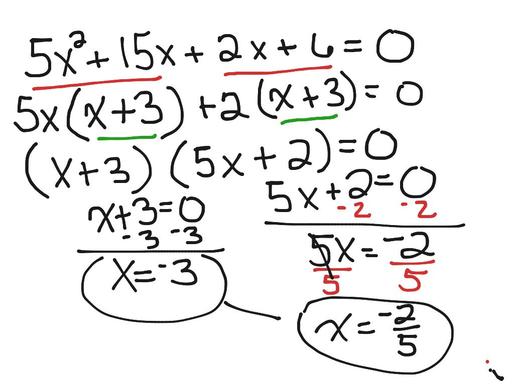 Class Notes Example 2 Solving Using Factor By Grouping