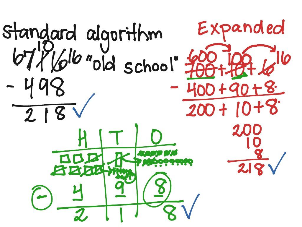 3 Digit Subtraction