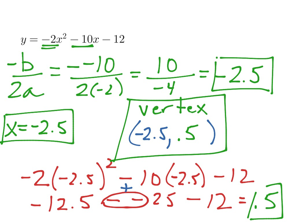 Aa1h Given A Quadratic Equation Find The Equation Of The