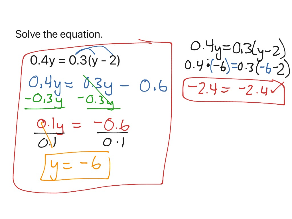 Chapter 1 3 Equations With Variables On Both Sides Part 2
