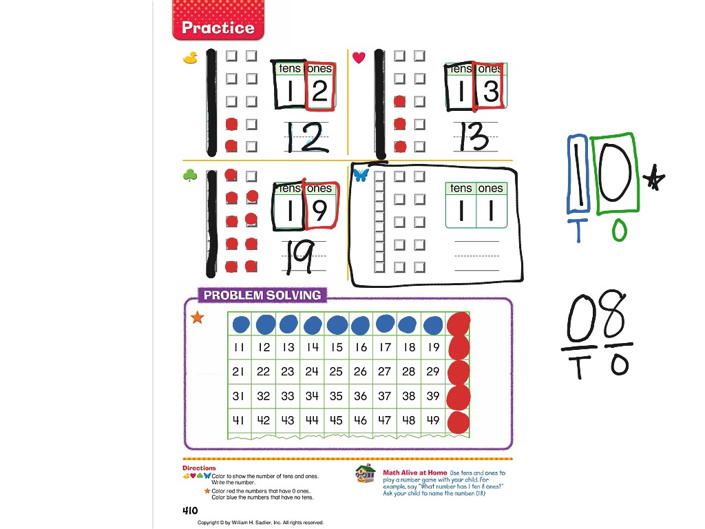 Chapter 12 Lesson 3 Exploring Tens And Ones