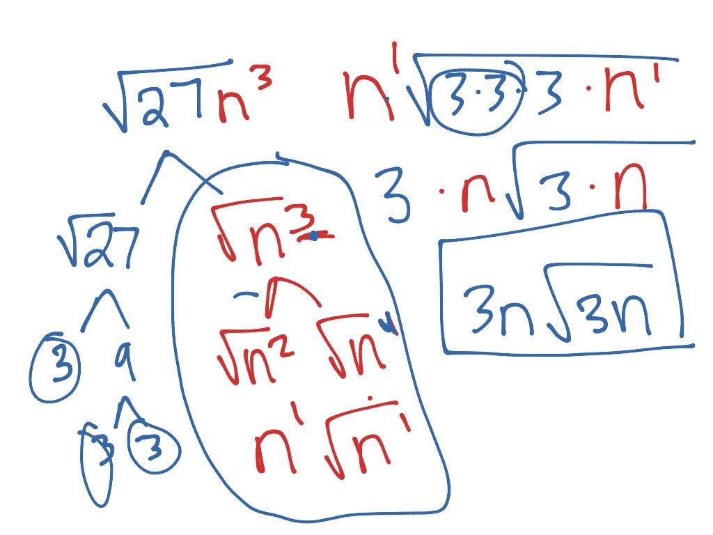 Simplifying Radicals Variables And No Variables