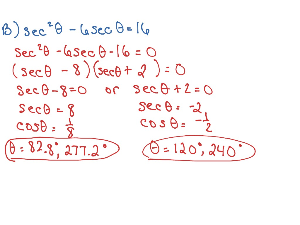 Trig 6 3 Solving Basic Trig Equations