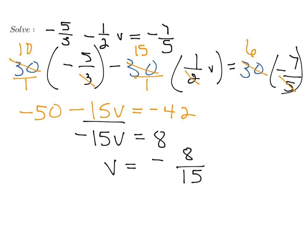 Solve Equation With Fraction Coefficients