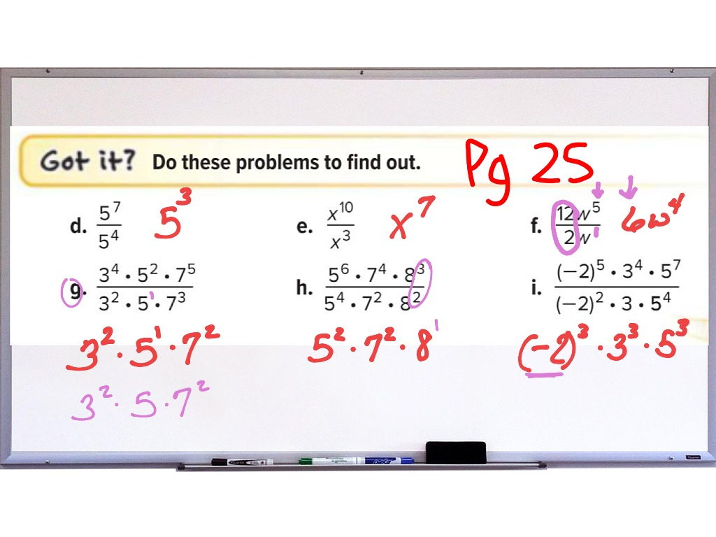 1 3 Multiplying And Dividing Monomials
