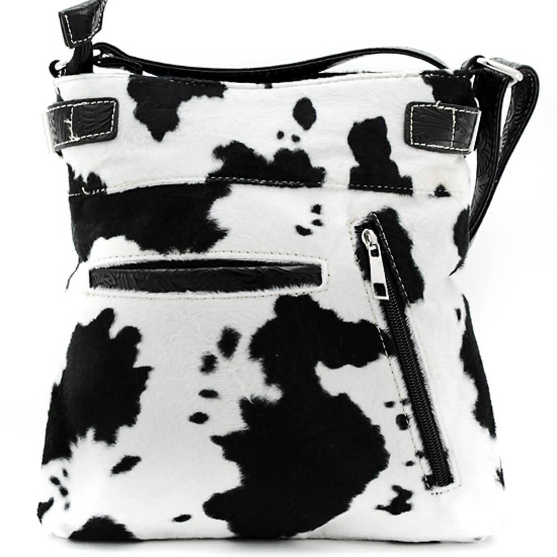 western black cow print cross body purse wallet combo set show