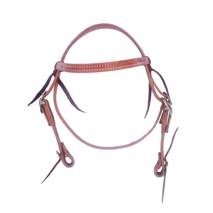 Pony Size Herman Oak Harness Leather Western Browband Bridle ⋆ Saddles N  Such | SMC