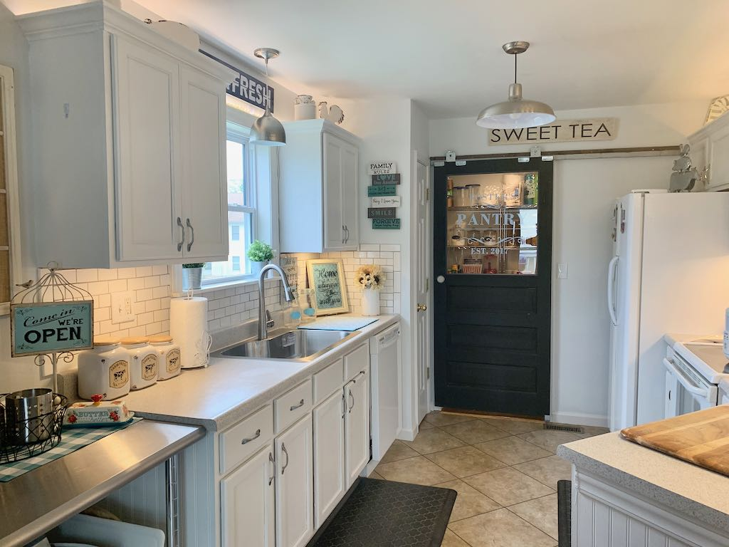 Diy Kitchen Remodel To A Farmhouse Style With Industrial And Rustic Touches On A Budget Show Me Daily Life