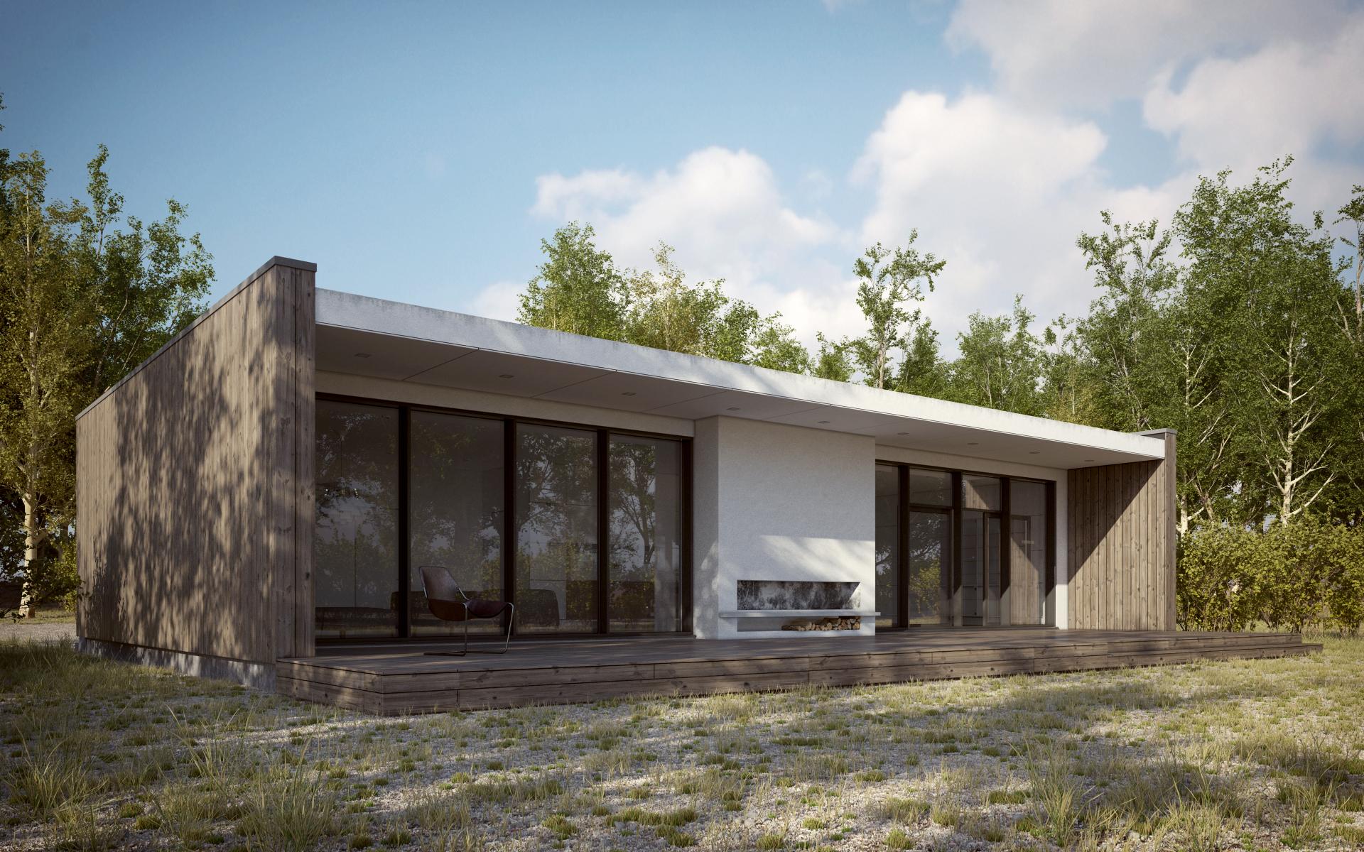 Scandinavian Summer House By 3dstudija