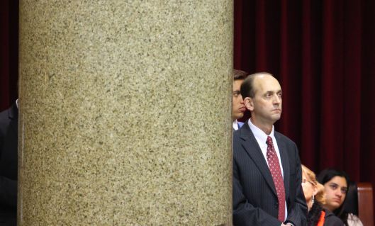 State Auditor Tom Schweich in a side gallery of the House chamber in Jefferson City – January 8, 2014.