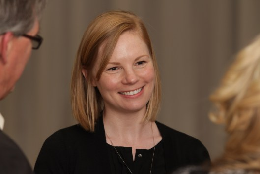 State Auditor Nicole Galloway (D) at the Cass County Democratic Committee back to Blue Dinner in Belton, Missouri - April 23, 2016.