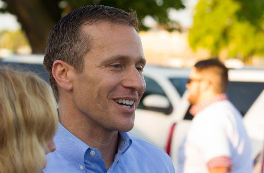 Eric Greitens (r) [2016 file photo].