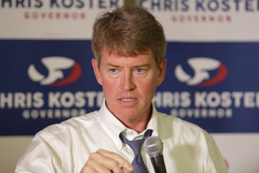 Chris Koster (D) in Columbia, Missouri - August 5, 2016.