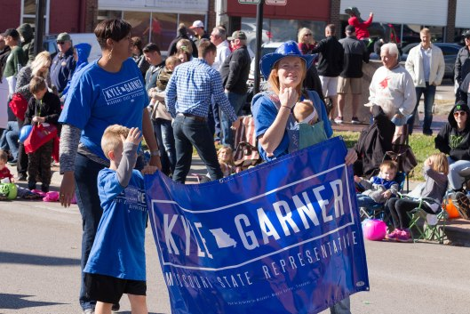Family and supporters of Kyle Garner, the Democratic Party nominee in the 52nd Legislative District (the candidate is in the background, working the crowd).