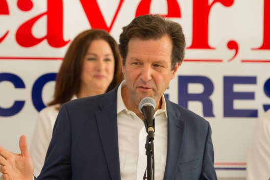 Russ Carnahan (D), the party's nominee for Lieutenant Governor, speaking at a GOTV kickoff rally in Kansas City – October 29, 2016.