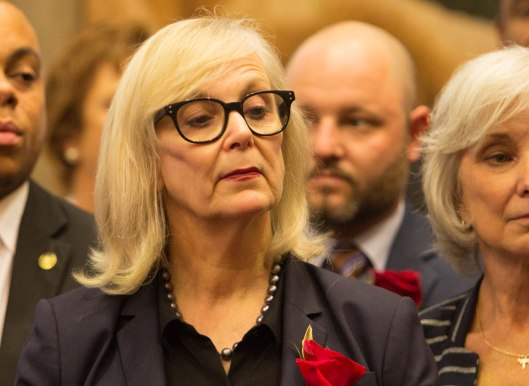 Representative Stacey Newman (D) [2017 file photo]