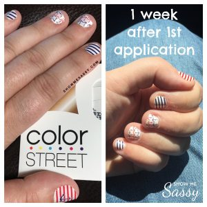 Side By Side of My First Color Street Manicure