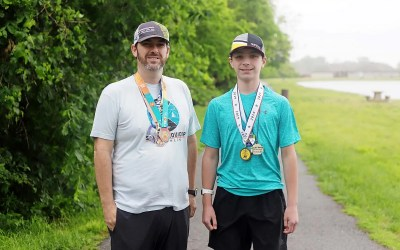 Why I Run –  Triathlon Transformation  Races, community help Rion Huffman and his family achieve goals and dreams