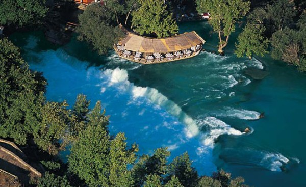 manavgat waterfall birdview